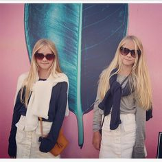 Tonight we are at a concert in downtown central Stockholm. #concerts #twins #sisters #summernights #love #music #blonde #style