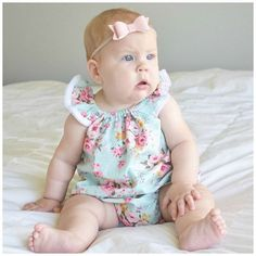 Ashlynn is just one of our best selling flutter sleeve rompers. Did you know that any of the romper styles you see can also be made into sweet dresses? Romper or dress, this style not only looks adorable, but gives your little girl freedom to move and play. #beyoutiful #bestseller #ashlynnromper