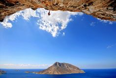 Kalymnos - One of the best climbing destinations in Europe Kalymnos now has more than fully bolted routes between and As well as catering for super elite climbers, Kalymnos is a low-mid. Travel Around The World, Around The Worlds, Greece Honeymoon, Places In Greece, Backpacking Asia, Escalade, Santorini Island, Rock Climbing, Sport Climbing