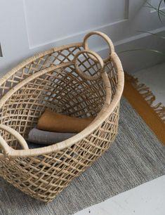 Set of Two Rattan Baskets | Rose & Grey