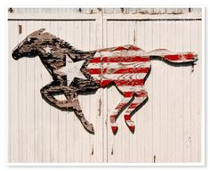 Rustic decor / red white and blue / American flag  (I like this for Derby, too)
