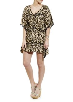 Animal Print Bobble Kaftan - Matalan