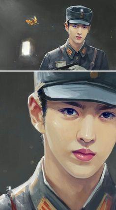 Exo Anime, Exo Fan Art, Kpop Drawings, Wu Yi Fan, Best Boyfriend, Kris Wu, Kpop Fanart, Models, Pretty Boys