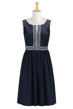 I <3 this Split neck embellished dress from eShakti