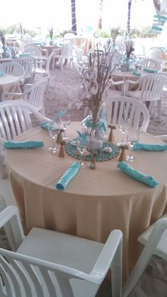 beach themed decor and favors
