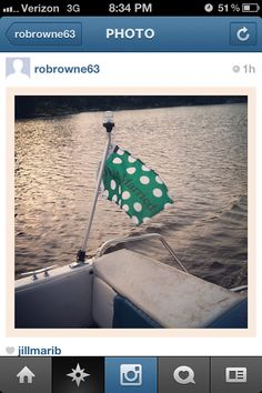 Just Married boat flag.