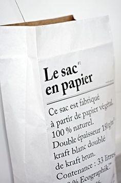 LE SAC EN PAPIER | THE PAPER BAG