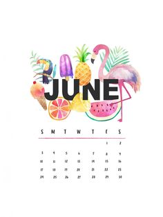 Beautiful June 2018 iPhone Calendar Wallpapers