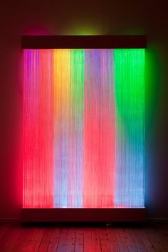 Find the latest shows, biography, and artworks for sale by Astrid Krogh. Fascinated by the interplay of textiles and light, Denmark-based artist Astrid Krogh… Light Art Installation, Illumination Art, Led Lampe, Museum Of Fine Arts, Neon Lighting, Unique Lighting, Art World, Oeuvre D'art, Rainbow Colors