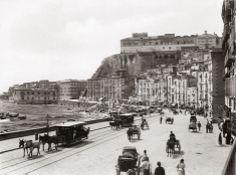 Foto di Giacomo Brogi, Santa Lucia e il Castel dell'Ovo, Napoli intorno al 1890
