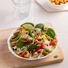 Salade d'amour, vinaigrette au miso - 5 ingredients 15 minutes Wonton Strips, Dehydrated Onions, Cheese Cultures, Rib Meat, Dried Lemon, Chicken Breast Fillet, Chicken Stuffed Peppers, Salad Dressing Recipes, Vegetarische Rezepte