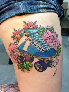 Skate Tattoos   Roller skate tattoo  