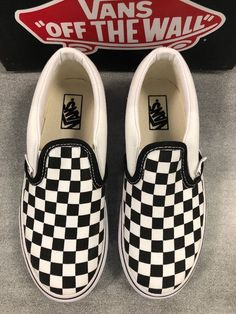 7059e5e6d9 New With Box Vans Classic Slip ONS Checkerboard Youth Size 13.5  fashion   clothing
