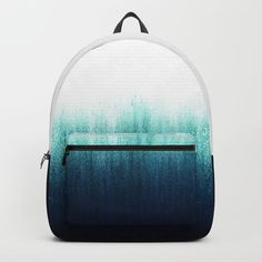 Teal Ombré Backpack by caitlinworkman Cute Mini Backpacks, Stylish Backpacks, Girl Backpacks, Fashion Bags, Fashion Backpack, Mini Mochila, Teal Ombre, Back Bag, Girls Bags