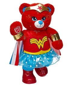 Warrior Wonder Woman™ Bear | Build-A-Bear || $50.50 as shown. I have her on my bed!!!
