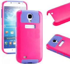 """myLife (TM) Hot Pink and Purple - Classic Tough Design (2 Piece Hybrid Bumper) Hard and Soft Case for the Samsung Galaxy S4 """"Fits Models: I9500, I9505, SPH-L720, Galaxy S IV, SGH-I337, SCH-I545, SGH-M919, SCH-R970 and Galaxy S4 LTE-A Touch Phone"""" (Fitted Back Solid Cover Case + Internal Silicone Gel Rubberized Tough Armor Skin + Lifetime Warranty + Sealed Inside myLife Authorized Packaging) """"ADDITIONAL DETAILS: This two layer Galaxy S4 armor skin gel fit together case is made"""