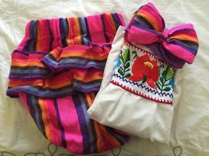 Mexican outfit baby bloomer and top mexican por Miamorcitocorazon