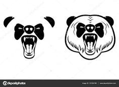 Image result for panda aggressive vector