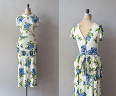 Summer on the Nahlin   floral 30s maxi dress  1930s by DearGolden, $334.00