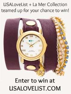 Win a Fabulous Wrap Watch from the La Mer Collection, Made in the USA {Giveaway} - USA Love List