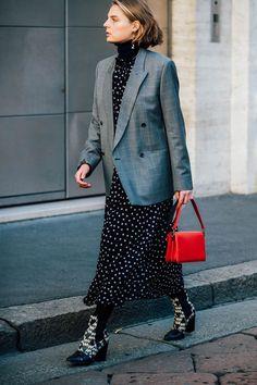 blazer + long dress + small bag @redreidinghood www.redreidinghood.com