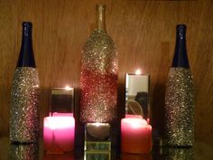 Finally made my own glitter wine bottles. Now there is glitter all over my house.