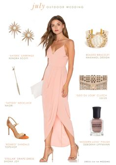 Our latest outfit idea featuring a beautiful versatile dress to wear to an outdoor July wedding! Shopping sources noted with links in italics are affiliate ...