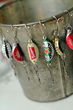 Bottle cap fishing lures {handmade christmas presents for me...
