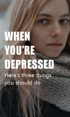 When I feel depressed, I know what I'm feeling isn't normal or even rational.  Here's three things you can try to help get out of a deep depression. #depressed  #health