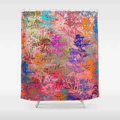 Floral abstract(52). Shower Curtain  #showercurtains #society6 #blue #navy…