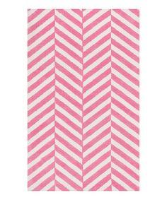 Pink stripe piper rug