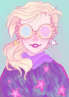 Luna Lovegood Desenho maravilhoso pra passar numa camiseta *.*