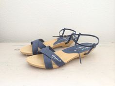 vintage sandals / vintage Candies / Chambray Denim by nocarnations, $34.00