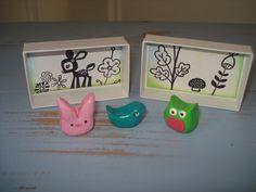 Little handmade matchbox playset.