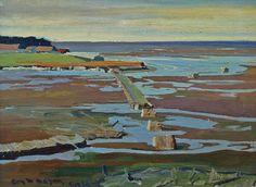 "Roy M Mason ""Capucin Bridge Louisiana"" 12x16 Oil on Canvas"