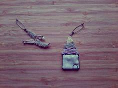 鳥とおうちブローチ
