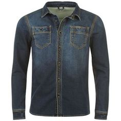 Firetrap Denim Shirt Mens - Firetrap