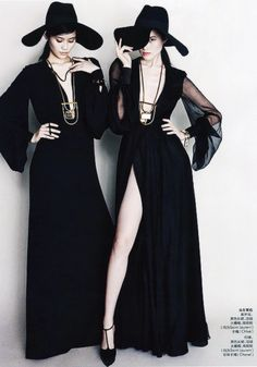 ming xi & sui he for elle china, march 2013