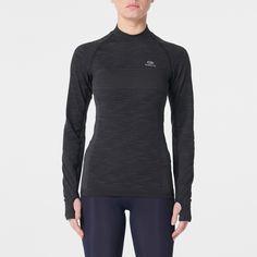 Hardloopshirt met lange mouwen voor dames Kalenji Kiprun Care Running In Cold Weather, Cold Weather Outfits, Female Runner, Long Sleeve Shirts, T Shirts, Online Checks, Running Tights, Black Tights, Running Women