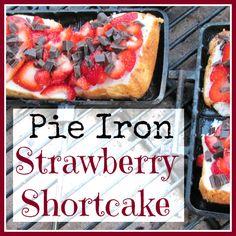 Pie Iron Strawberry Shortcake