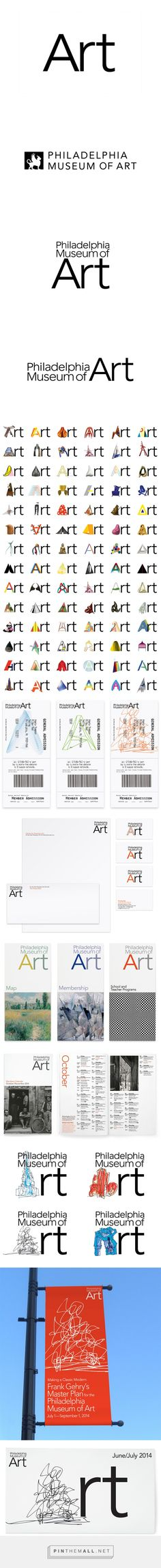 philadelphia museum of art rebrand by paula scher - created via http://pinthemall.net