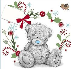 Daddy From Your Little Girl Me to You Bear Christmas Card Christmas Cards 2017, Christmas Tags Printable, Christmas Card Crafts, Christmas Graphics, Christmas Drawing, Christmas Art, Xmas, Teddy Pictures, Bear Pictures