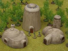 15mm Desert Domes