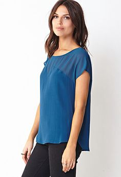 Posh Woven Top | FOREVER 21 - 2000129353 #foreverholiday