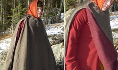 14th C winter cloak (illumination above on the same page)