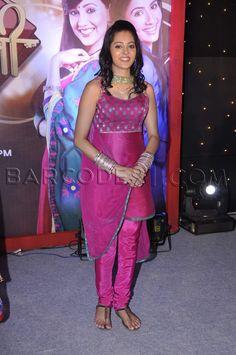 Pink suit at Meri Bhabhi TV Serial Launch.