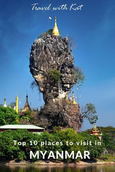 Kyauk Ka Lat Pagoda, near Hpa An, one fo my top 10 places to visit in Myanmar (formerly Burma)