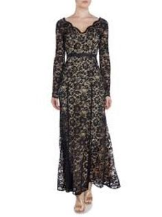 057adb84fe60 Linea Black Lace Fishtail Maxi Dress Size UK 12 RRP 169 Box46 05 A #fashion