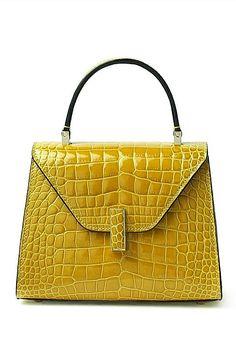 Designer Top Handle Crocodile Handbag Crossbody Bag Crocodile Purse Source by MissKristja and bags Luxury Bags, Luxury Handbags, Fashion Handbags, Purses And Handbags, Fashion Bags, Leather Handbags, Leather Bag, Crocodile Handbags, Sacs Design
