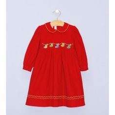 Smocked Christmas Stocking Dress - $57.95